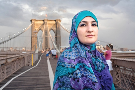 9/11 G2 SPECIAL, Linda Sarsour, Shot on the Brooklyn Bridge, 13th July 11, shot by Tim Knox